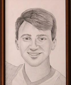 Portret creion cu rama