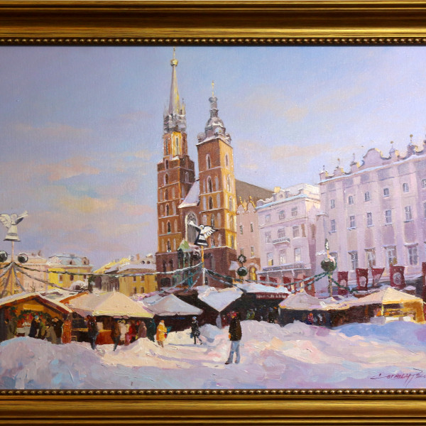 4200 Cracovia Targ de sarbatori 80x60