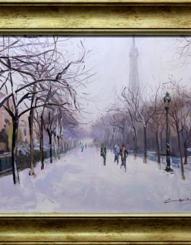 Dimineata de iarna in Paris 40x50 1760