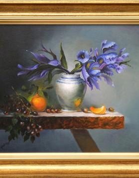 IMG_7311 natura statica cu iris si portocale 800 41x37