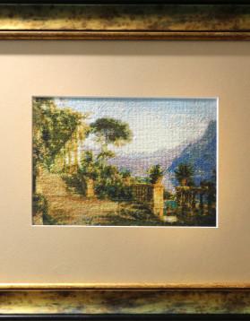 Loja langa lacul Como - 16 x 12 cm 22 culori 400