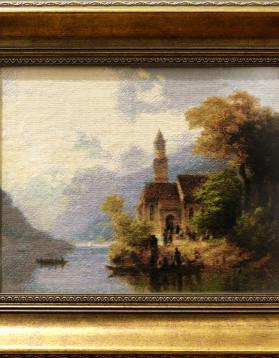 Anton Doll - Intoarcerea acasa de la Liturghie - 25 x 20,9 (rama 37 x 32 cm) 25 culori - 800 lei