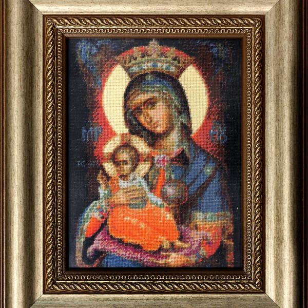 Fecioara Maria cu Pruncul Iisus - 12x16 cm (Rama 22x26 cm) 22 culori - emag