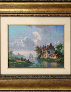 Peisaj olandez - 15x20 cm (Rama 33x37 cm) 40 culori