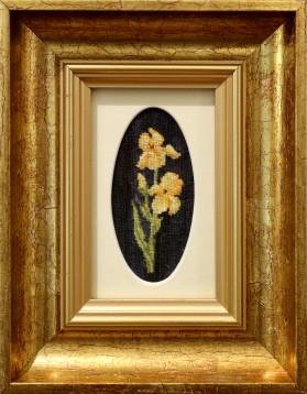Tablou Goblen - Flori Gura Leului - 10x5 cm (rama 17x22 cm) 7 culori - 69 lei