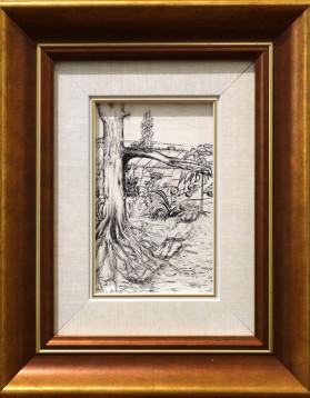 Tablou grafica in tus - 8x12,5 cm 99 lei